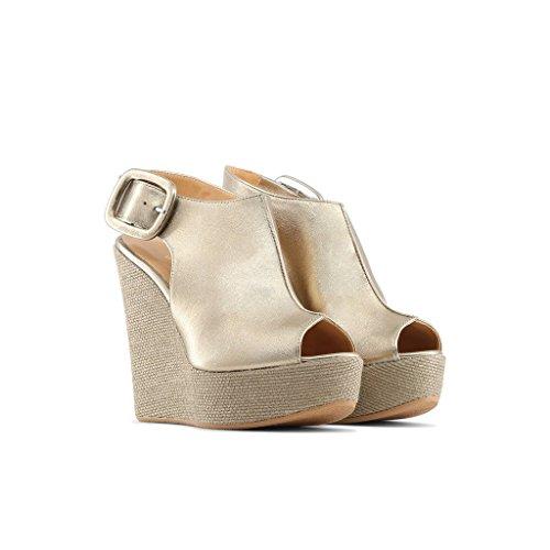 Cm 5 Gul Sandaler Platform Højde 12 3 I Cm 5 p Clotilde Italien Kile Lavet Kjole Kvinder X6aUvn