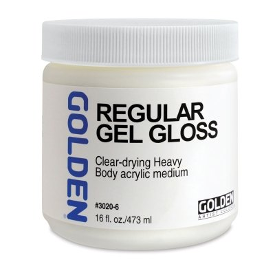 Golden Artist Colors - Regular Gel Gloss - 16 oz Jar ()
