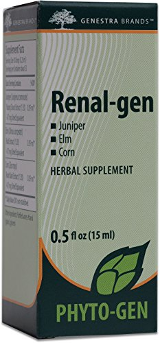 Genestra Brands – Renal-gen – Juniper, Elm, and Corn Herbal Supplement – 0.5 fl. oz.