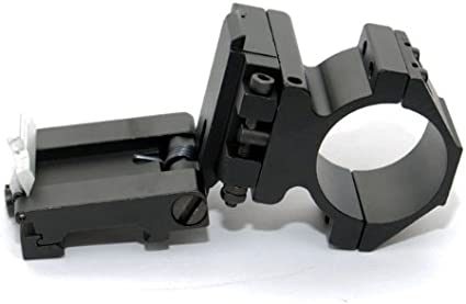 Tactical 30mm QD Pivot Magnifier Scope Tall Flip Up Mount with Speed Lever Lock