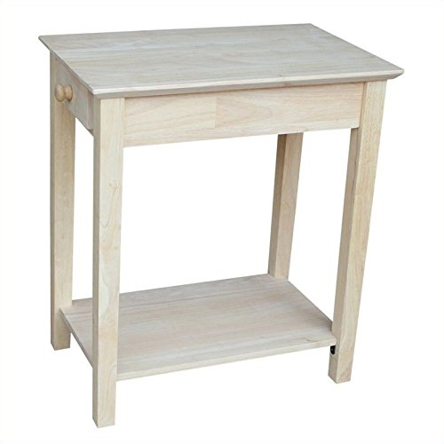 International Concepts OT-2214 Narrow End Table, Unfinished - Unfinished Birch