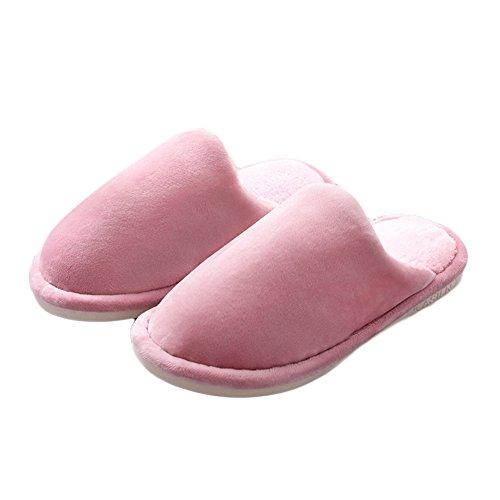 Pantofola Lavabile Coperta Dellinterno Della Lavanda Della Peluche Delle Donne Morbide Rosse Dellinterno