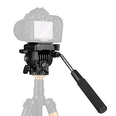 pangshi Video Camera Tripod Action Fluid Drag Pan Head For Canon Nikon Sony DSLR Camera Camcorder Shooting Filming by ShenZhen Pangshi Technology Co., LTD