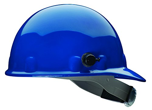 Fibre-Metal by Honeywell E2QRW71A000 Super Eight Ratchet Cap Style Hard Hat with Quick-Lok, Blue