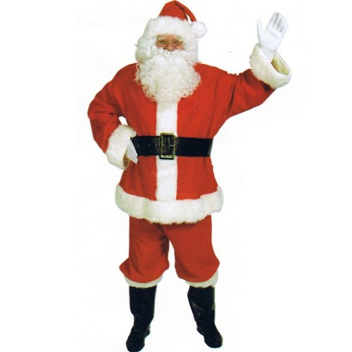 Halco - Complete Santa Suit Adult Costume - Standard - Red
