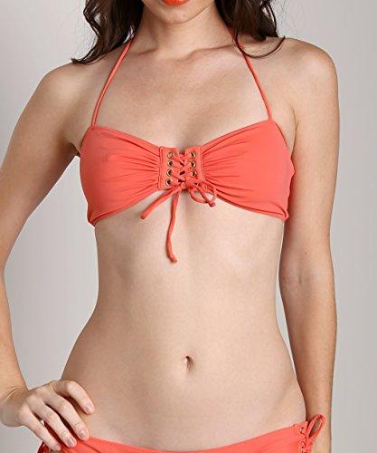 Rachel Pally Women's Hanalei Bikini Top Apricot Swimsuit Top SM (US 4)