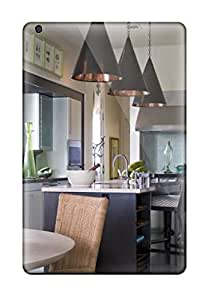 For Ipad Case, High Quality Contemporary Kitchen Lit By Hammered Copper Pendants For Ipad Mini/mini 2 Cover Cases