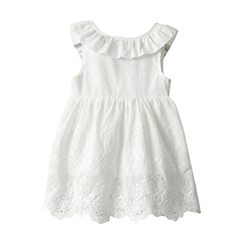 AMA(TM) Toddler Kids Baby Girls Sleeveless Big Bow Princess Party Dress