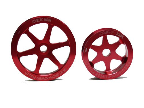 OBX Red Overdrive Power Pulley Kit 94-02 Honda Accord 2.2//2.3L 4cyl SOHC ONLY
