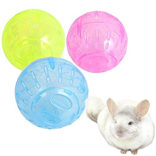 Gracefulvara 1pcs Pet Play Exercise Jogging Ball for Mice Hamster Gerbil Rat Plastic Toy Random Color 412tVTn0kGL