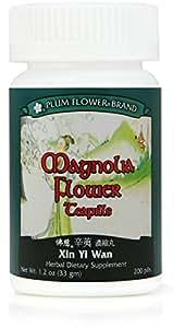 Magnolia Flower Teapills (Xin Yi Wan), 200 ct, Plum Flower