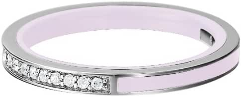 ESPRIT Women's 925 Sterling Silver White Rhodium Plated Crystal Zirconia Glam Lavender Ring