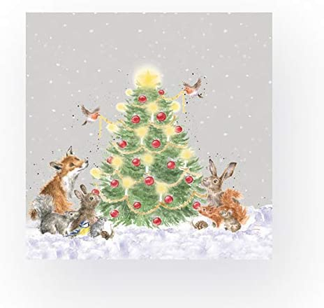 20 St/ück Motiv Oh Christmas Tree Wrendale Designs Servietten