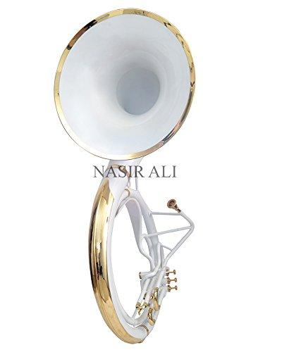 Sousaphone Bb Big Bell 25'' White