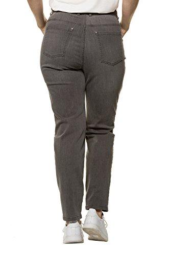 Grandes Tailles Pantalon Clair Poches Ceinture 717310 5 Slim Denim Zip Gris Coupe Popken Bouton Femme Ulla fxTSRq