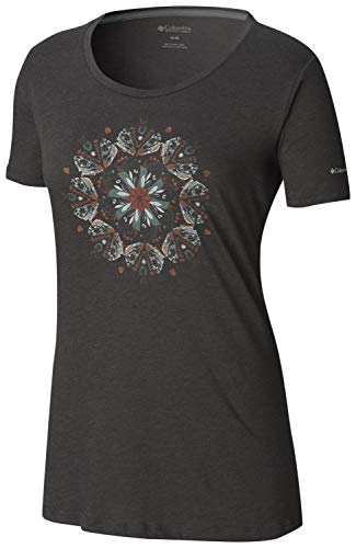 - Columbia Women's Butterfly Wing Medallion Tee, Charcoal Heather, Large