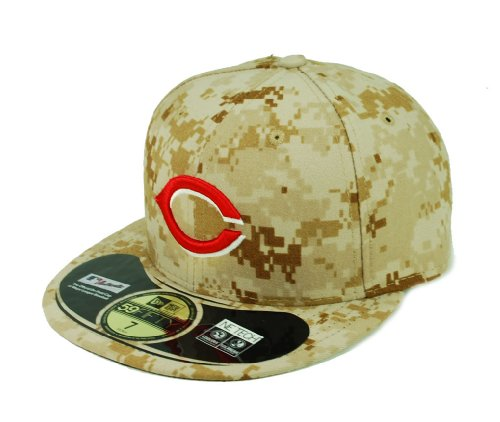 Camo 59fifty Fitted Cap - New Era MLB Cincinnati Reds Alt 2 AC On Field 59Fifty Fitted Cap-778