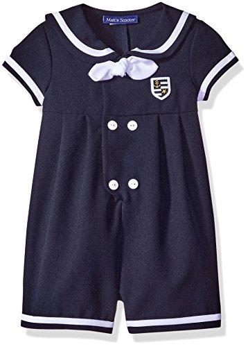 Bonnie Jean Toddler Boys Nautical Sailor Suit Outfit, Navy 4T ()