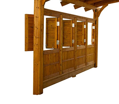 Outdoor GreatRoom Privacy Wall for Sonoma Arched Pergola -  SONOMA16-R-WALL