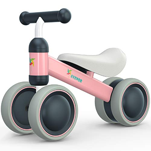 Avenor Baby Balance Bike - Baby Bicycle for 6-24 Months, Sturdy Balance Bike for 1 Year Old, Perfect as First Bike or Birthday Gift, Safe Riding Toys for 1 Year Old Boy Girl Ideal Baby Bike (Pink)