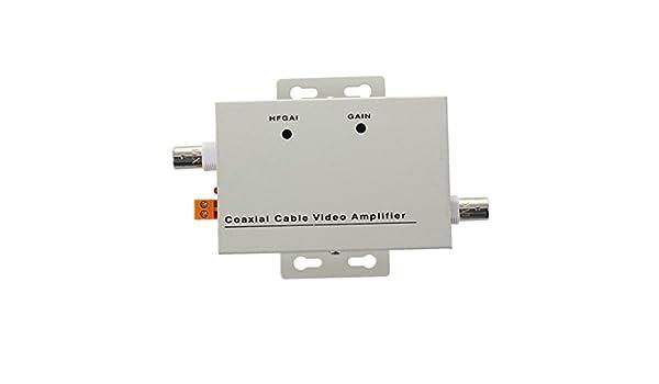 SODIAL(R) BNC amplificador de video CCTV coaxial Balun para camara ...
