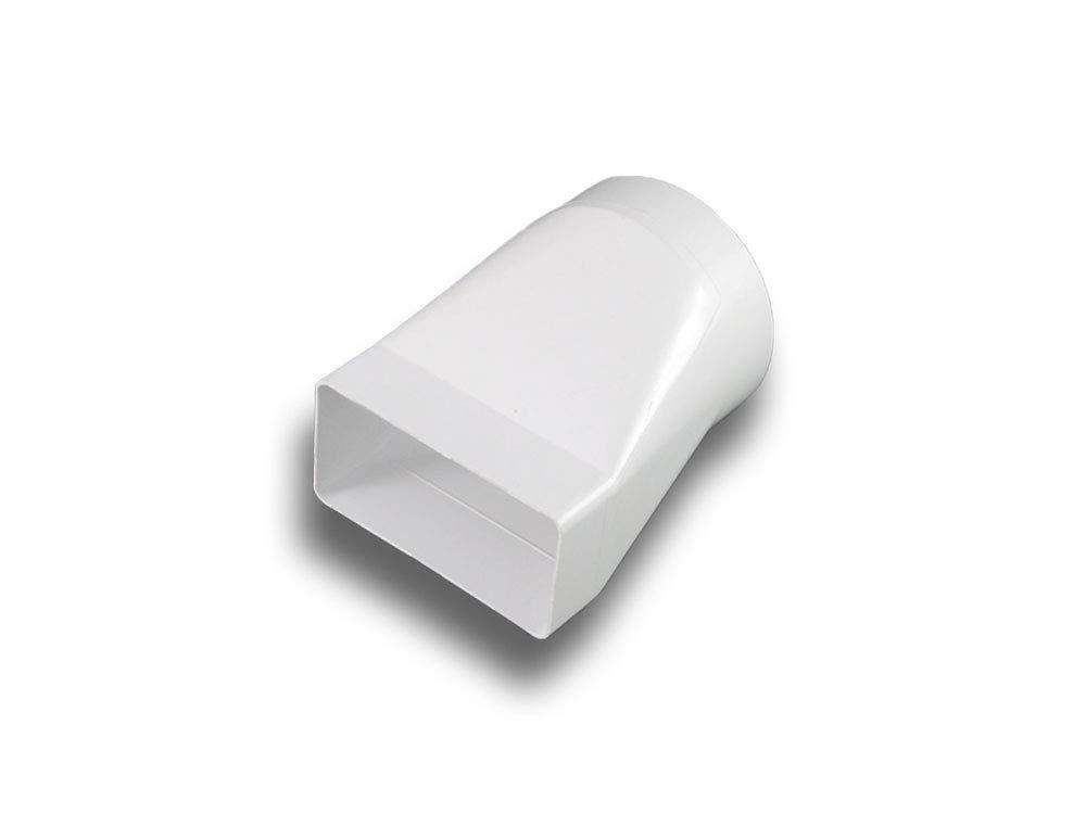 /Übergangsst/ück Adapter PVC flach//eckig  rund System 100 auf /Ø 100