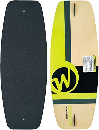 "MESLE WAKETEC Wakeskate Woody 41"", EVA Flat-Deck Board, Length 105 cm, up to 70 kg Bodyweight, green"