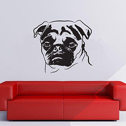 ONETOTOP Cartel 3D Pug Retrato Sketch Canino Mascota Perros ...