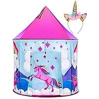Unicorn Tent for Girls - Unicorn Pop Up Kids Tent w/...