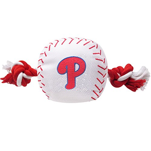 Pets First MLB Philadelphia Phillies Dog Nylon Baseball Rope - Philly Hours Outlets