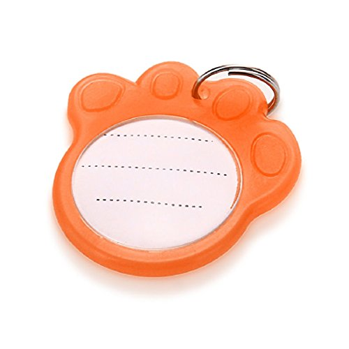 - Dog Cat Pet Safety Anti-Lost Luminous Collar Id Tag Plastic Write Glow Name Neck
