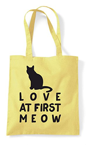 Lemon Pets Animal Tote At Cat Meow Love Bag First Person Shopper Lover Funny X70zZ