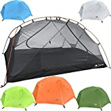 Hyke & Byke Zion Two Person Backpacking Tent with Footprint – Lightweight, Spacious Interior, Compact, and Durable Design (Orange)