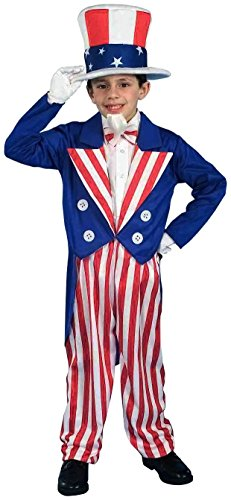Forum Novelties Patriotic Party Uncle Sam Costume, Child Large