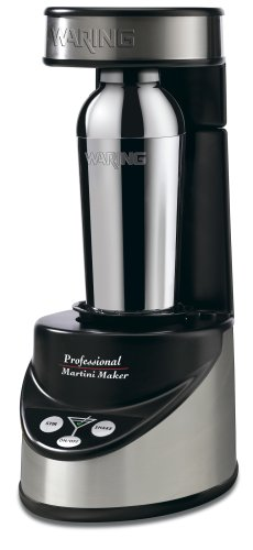 Waring Pro Professional Electric Martini Maker, Black/Chrome (Electric Martini Shaker)