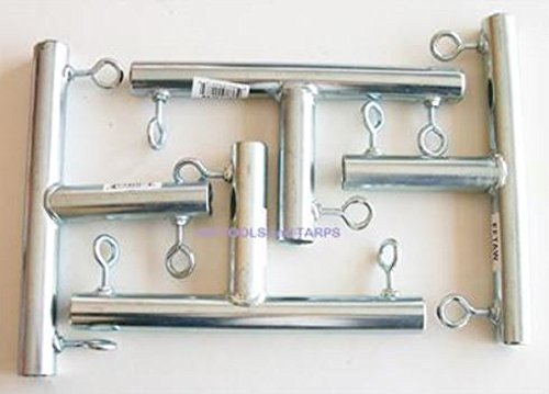 """Cheap 4pc – 3 way """"T"""" SHAPED 3/4″ CANOPY FITTING (FTA) ~ 3/4″ Pipe Canopy Part"""