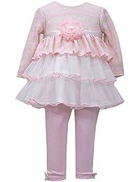 Bonnie Baby Baby Girls' Triple Mesh Tiered Top Legging Set