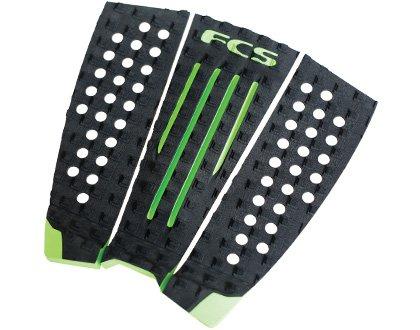 FCS Surf Julian Traction Pad, Black/Hot Lime
