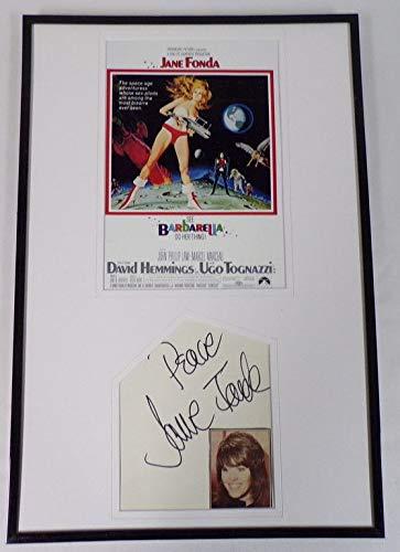 Jane Fonda Signed Framed 12x18 Barbarella Poster Display