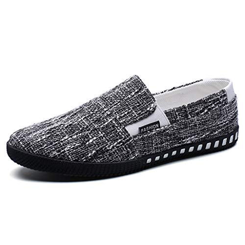 denim Blue WangKuanHome casual scarpe scarpe Scarpe 41 uomo Black da da Size tela di tela di estiva uomo Color scarpe tendenza rXTXzvx