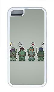 iPhone 5C Case Funny Tmnt Teenage Mutant Ninja Turtles TPU iPhone 5C Case Cover White