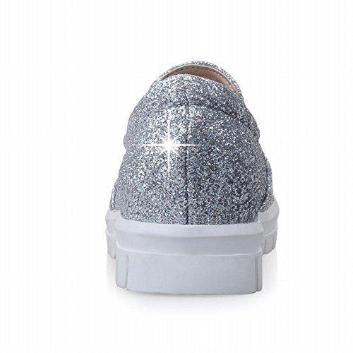 Carolbar Womens Bling Bling Sequins Shiny Fashion Comfort Casual Popular Flats Shoes Silver jvYk3