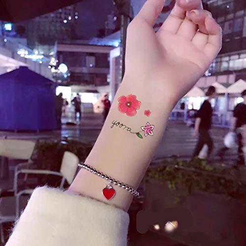 QAWSED Etiqueta Engomada Del Tatuaje For Niños Chica Linda Fresca ...