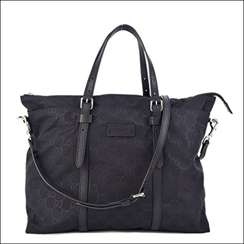 Gucci Original GG bag tote Black Red Green Fabric New ()