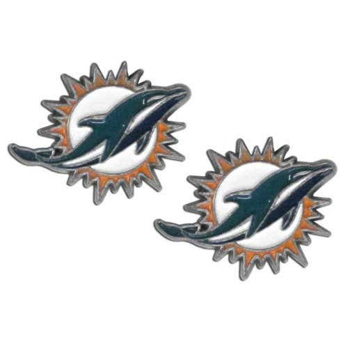 NFL Miami Dolphins Stud Earrings (Ladies Dolphin Ring)