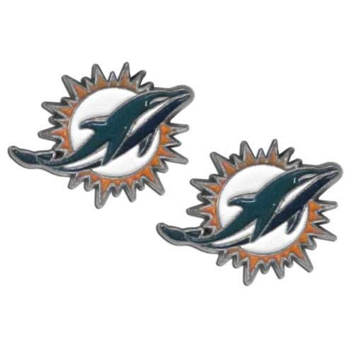 NFL Miami Dolphins Stud (Miami Dolphins Logo Charm)