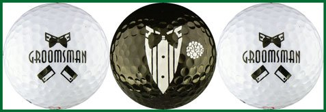 2:1 Groomsman/Black Tuxedo golf balls, Outdoor Stuffs