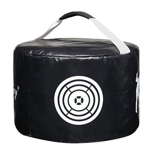 NKTM Golf Impact Contact Power Smash Bag Golf Swing Training Aids Golf Hitting Bag Black/Yellow ()