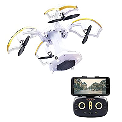 LBKR Tech FPV RC Drone, WiFi Live Feed RC Quadcopter with HD Camera - 2.4Ghz 6-Axis Gyro 4CH Remote Control UAV Drone with Altitude Hold, Headless, One Key Take Off, Landing, Return Home by LBKR Tech