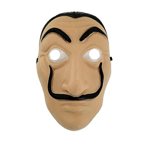 Nuoka Halloween Cosplay Mask Movie Realistic Party Mask La Casa De Papel Mask (Style B) -